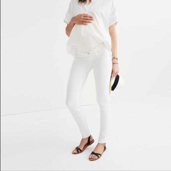 dc91e6f5c3f9a Madewell Pants | Maternity Skinny Jeans White Size 27 | Poshmark